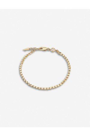Missoma Box-link double-chain 18ct yellow -plated vermeil bracelet