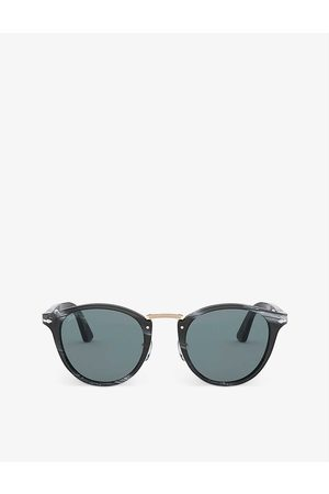 Persol PO3108S Typewriter Edition round-frame acetate sunglasses