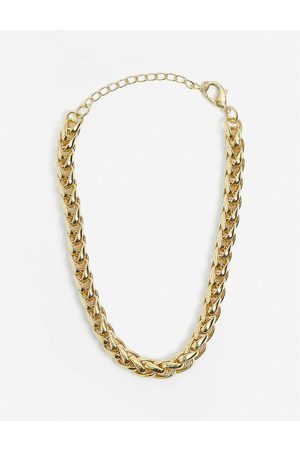 79HOUR Long Boa 14ct -plated brass necklace