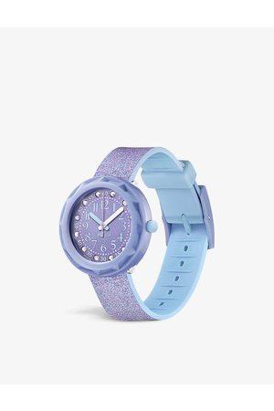 Flik Flak FCSP102 Lilaxus silicone-strap quartz watch