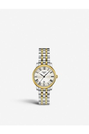 Tissot T1222102203300 Carson yellow-gold and stainless steel watch