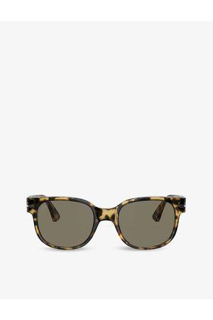Persol PO3257S 51 tortoiseshell-print acetate square sunglasses