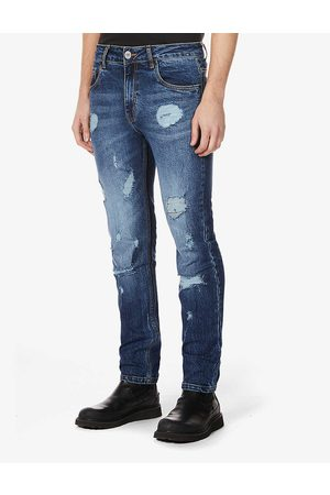 NO.91 Busted slim-fit straight-leg jeans