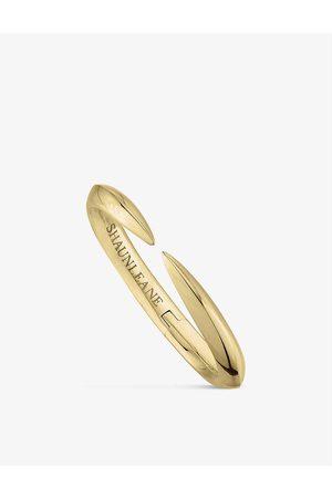 SHAUN LEANE Arc -plated vermeil bracelet