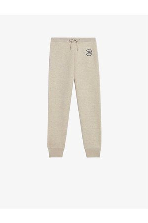 Sandro Venise embroidered mid-rise stretch-knit jogging bottoms
