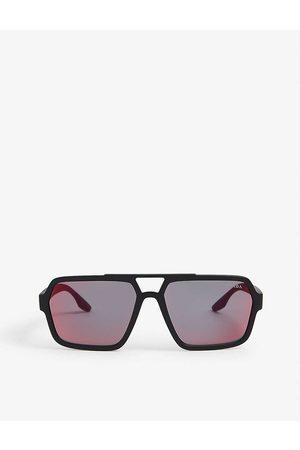 Prada Linea Rossa PS01XS square-frame acetate sunglasses