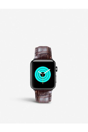 Mintapple Apple Watch alligator-embossed leather strap and stainless steel case 38mm/40mm