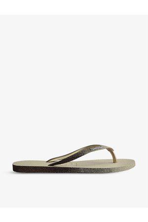 Havaianas Slim Sparkle II rubber flip flops
