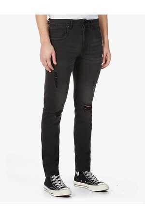 NO.91 Men Slim - Slim Distressed ripped slim-fit jeans