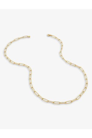 Monica Vinader Alta 18ct yellow -plated vermeil recycled sterling-silver necklace