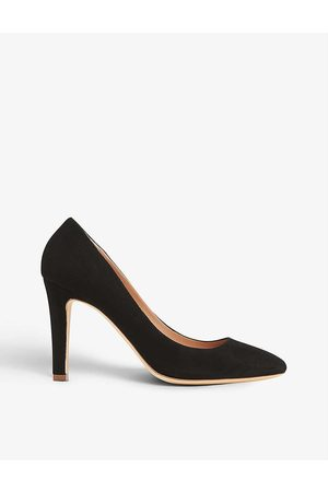 LK Bennett Fawn square-toe suede courts