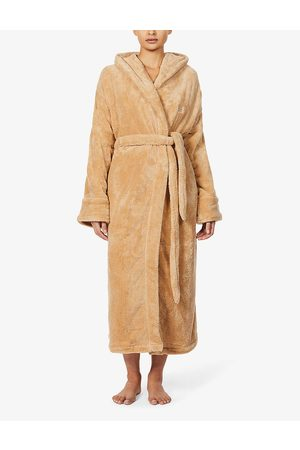 SOHO Logo-embroidered recycled-polyester house robe