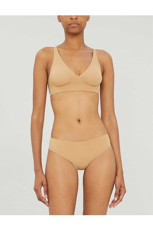 Wolford Pure V-neck stretch-jersey bralette