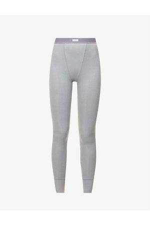 SKIMS Ribbed high-rise stretch-cotton jersey leggings