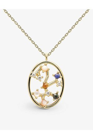 PD Paola Women Necklaces - Zodiac Sagittarius 18ct -plated sterling silver and gemstone necklace