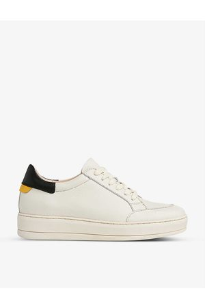 LK Bennett Teagan leather low-top trainers