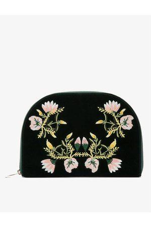 The Alkemistry WOLF Zoe floral-embroidered velvet jewellery portfolio
