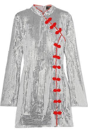 De La Vali Women Dresses - Woman Ginger Sequined Tulle Mini Dress Size 10