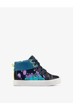 Clarks X Disney Pixar City Scare leather trainers 12-24 months