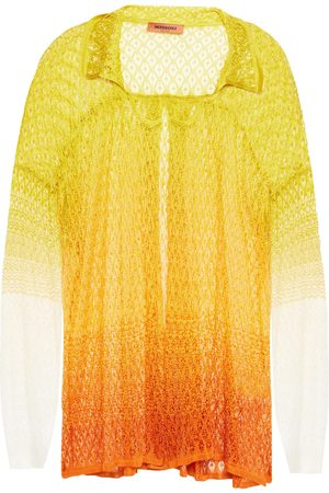 Missoni Women Cardigans - Woman Dégradé Crochet-knit Cardigan Marigold Size 38