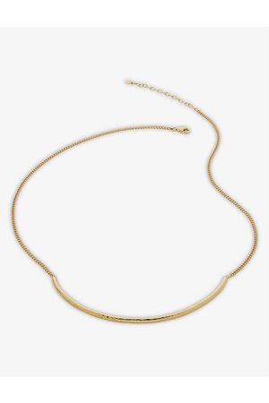 Monica Vinader Deia 18ct -plated vermeil silver necklace