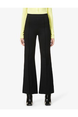 Spanx Flared high-rise stretch-woven trousers