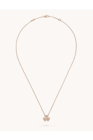 Van cleef Frivole 18ct rose- and 0.21ct diamond necklace