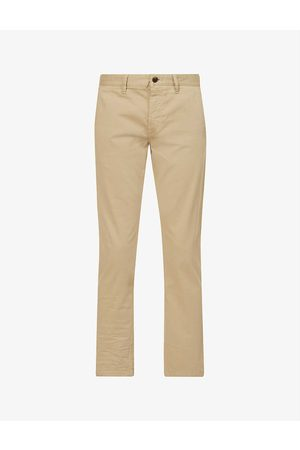HUGO BOSS Tapered slim-fit stretch-cotton trousers