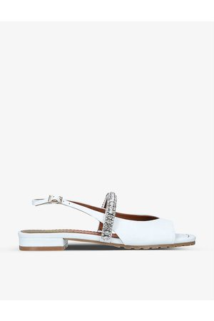 Kurt Geiger Princely Rainbow embellished-strap leather sandals