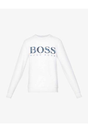 HUGO BOSS Logo-print cotton-jersey sweatshirt