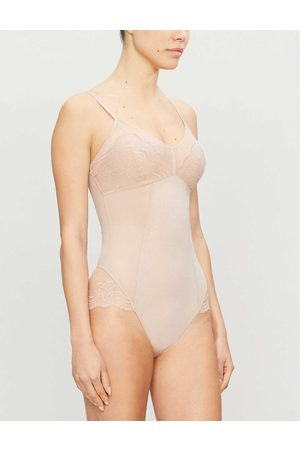 Spanx Women Bodies - Spotlight lace-embroidered stretch-woven body