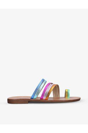 Kurt Geiger Deliah Rainbow leather sandals