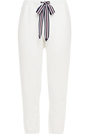The Upside Women Trousers - Woman Captain Cropped French Cotton-terry Track Pants Size 10