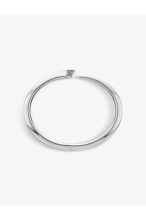 SHAUN LEANE Tusk Sabre sterling and diamond bangle