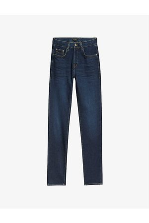 Ted Baker Simay faded straight-leg stretch-denim jeans