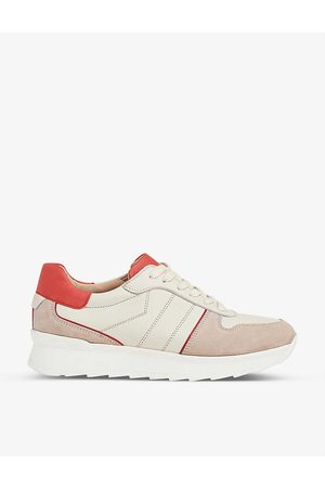 LK Bennett Tatiana suede and leather low-top trainers