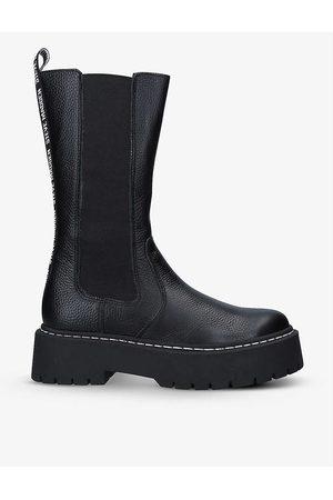 Steve Madden Vivianne logo-embossed leather boots