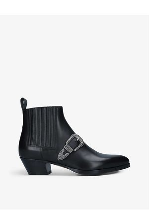Gucci Zahara buckle-front leather ankle boots