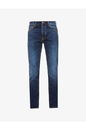 Nudie Jeans Grim Tim slim-fit straight organic cotton-blend jeans