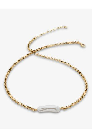 Monica Vinader Women Necklaces - Nura Biwa pearl and 18ct gold-plated vermeil sterling silver necklace