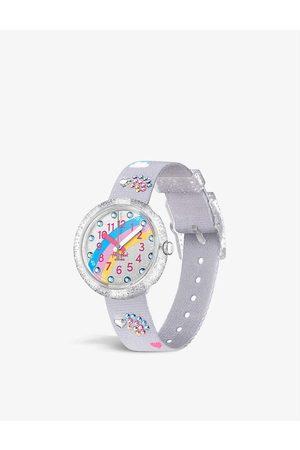 Flik Flak FPNP072 Over the Rainbow fabric-strap quartz watch