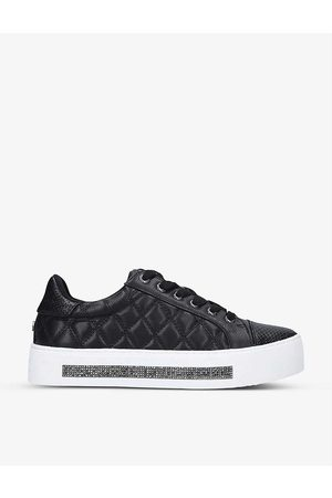 Carvela Jeo embellished quilted faux-leather trainers