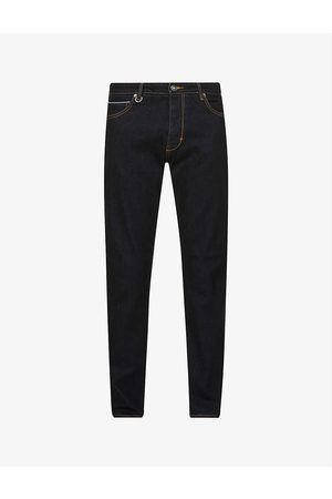 NEUW Ray Straight Selvedge mid-rise stretch-denim jeans