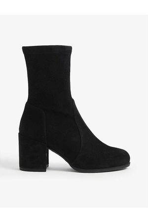 Stuart Weitzman Tieland 65 heeled suede ankle boots