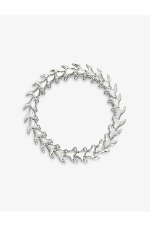 SHAUN LEANE Serpent Trace wide sterling bracelet
