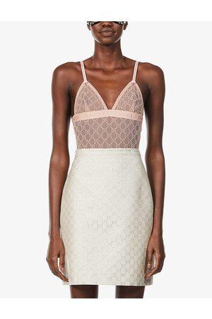 Gucci GG-embroidered stretch-mesh body