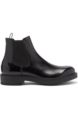 Prada High-shine Leather Chelsea Boots - Mens