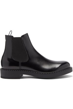 Prada Men Chelsea Boots - High-shine Leather Chelsea Boots - Mens