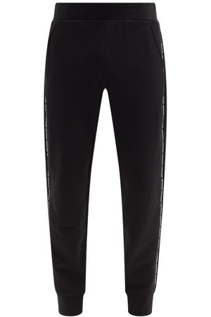 Moncler Logo-tape Cotton-jersey Track Pants - Mens