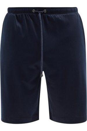 Zimmerli Men Pyjamas - Drawstring Cotton-blend Jersey Pyjama Shorts - Mens - Navy